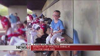 9-year-old bat boy dies after being hit in head by bat swing