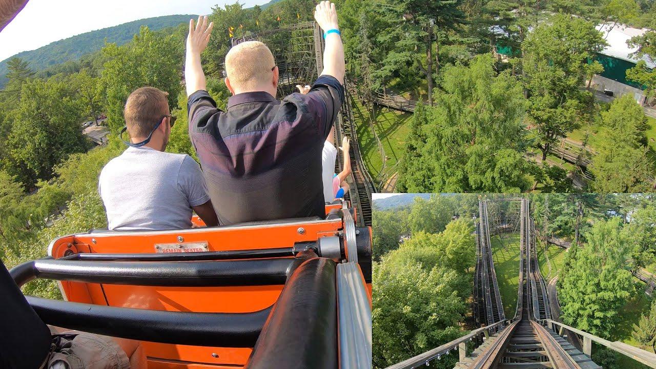 Phoenix Roller Coaster Multi Angle POV Knoebels Amusement Park