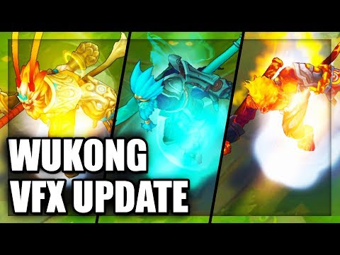 All Wukong Skins Visual Effects (VFX) Update - League of Legends