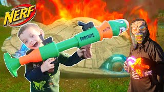 Sneak Attack | with Nerf Fortnight Rocket Launcher | Alien first contact