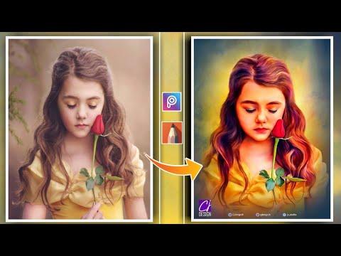 PicsArt Digital Oil Painting Photo Editing // Smudge Oil Painting Photo Editing PicsArt sketch book