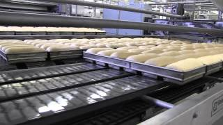 Baking bread and buns at the AAFES bakery