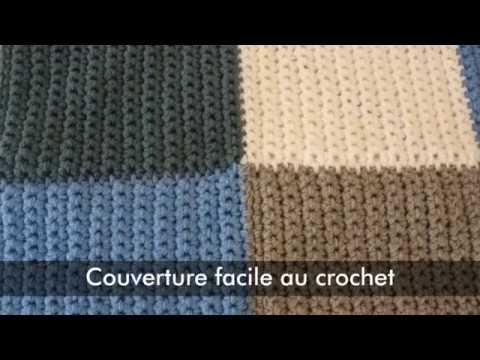 Couverture Facile Au Crochet