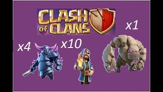 pekka attack clash of clans | pekka + wizard attack | pekka attack on th9 | clash of clans