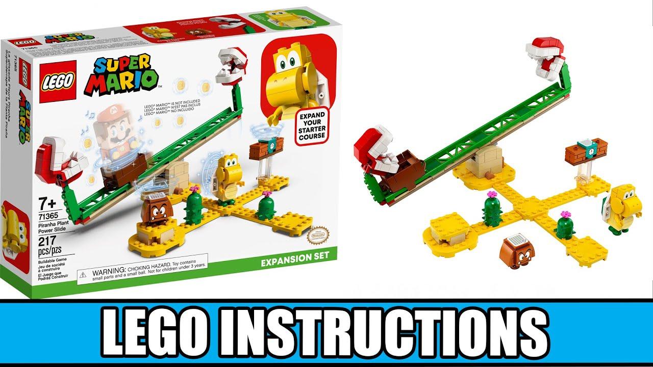 LEGO Instructions: How to Build Piranha Plant Power Slide Expansion Set - 71365 (LEGO SUPER MARIO)