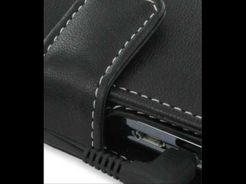 PDair Leather Case for HP iPAQ Voice Messenger - Book Type (Black)