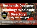 Authentic Designer Handbags Wholesale Directory