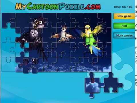 Мультик игра Трио в перьях пазлы (Richard The Stork Puzzle)