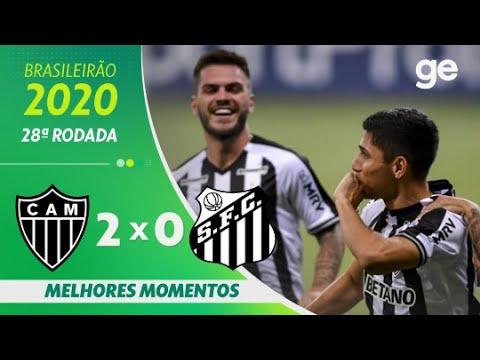 ATLÉTICO-MG 2 X 0 SANTOS | MELHORES MOMENTOS | 28ª RODADA BRASILEIRÃO 2020 | ge.globo