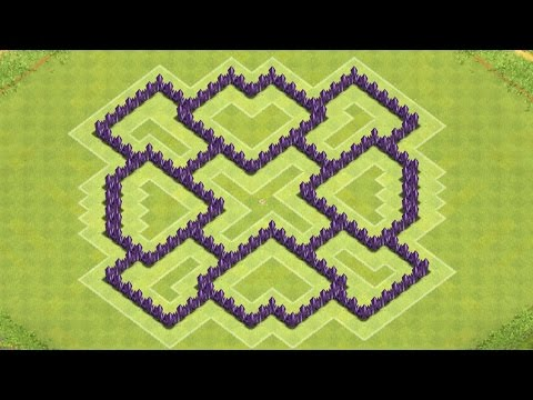 Clash of Clans Town Hall 7 Defense BEST CoC TH7 Trophy Base Layout Defense Strategy