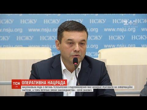 ТСН: Нацрада має швидше реагувати на інформаційні загрози, а тому потрібні зміни у законах – Юрій Зіневич