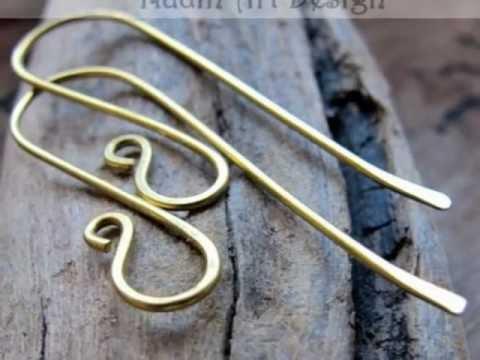 Brass Ear Wires - Fancy French Hook Earwires - Earring Making Supplies