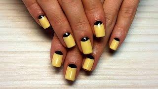 Дизайн ногтей гель-лак shellac - Лунный маникюр, маникюр Dior (видео уроки дизайна ногтей)