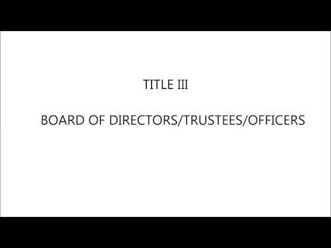 The Corporation Code of the Philippines | Title III: Board of Directors/Trustees/Officers
