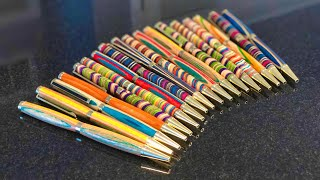 PENS MADE OUT OF ONE SKATEBOARD!
