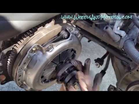 How to change clutch on front wheel drive vehicle (Nissan Primera P12 1.8)