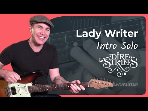 Lady Writer - Dire Straits [INTRO SOLO] 1of4 - Mark Knopfler Guitar Lesson Tutorial (ST-363))