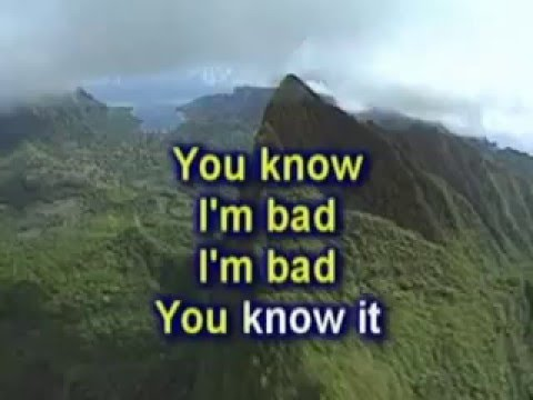 Michael Jackson - Bad (karaoke Version)