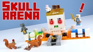LEGO Minecraft The Skull Arena Set Stop Motion Review 2018