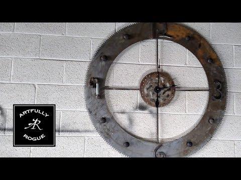 Reclaimed Materials Shop Clock