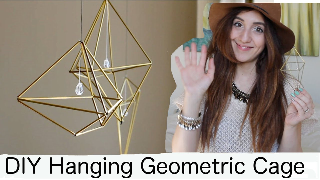 DIY Hanging Geometric Cage Or Air Plant Holder