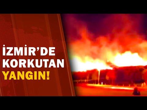 İzmir Bornova'da Korkutan Yangın! / A Haber