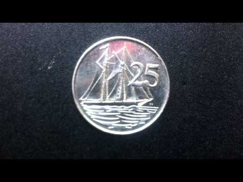 Coins : Cayman Islands 25 Cents 1992 Coin