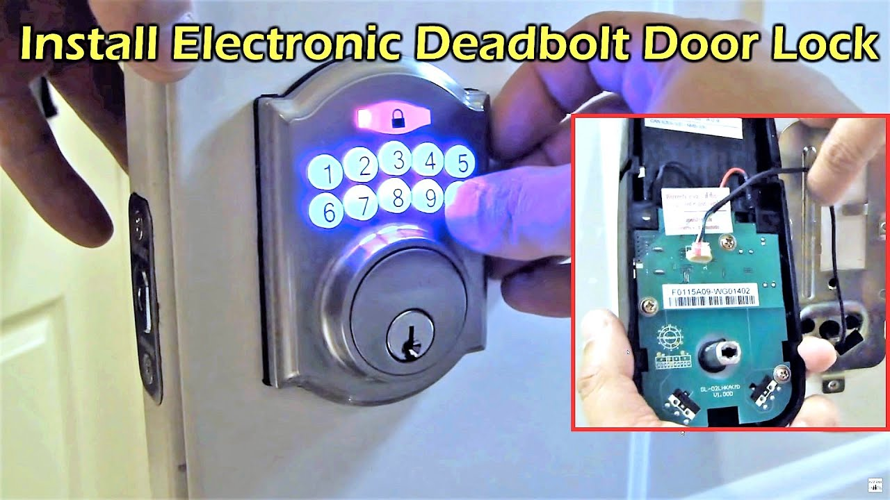 Electronic Deadbolt Door Lock Install Defiant Youtube