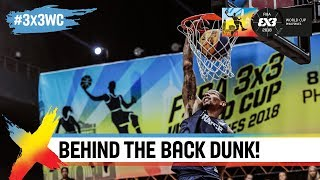 Guy Dupuy breaks out an insane behind the back dunk! | FIBA 3x3 World Cup 2018