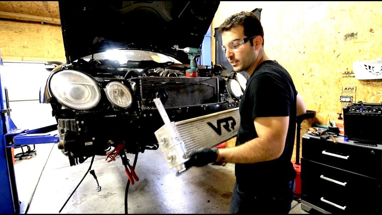 E55 AMG BUILD PT 1 - VRP Heat Exchanger Install & Parts discount Code