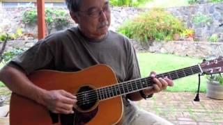 Uncle Larry Playing Slack Key - Maori Brown Eyes