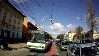 Safe bicycle lane: Passing by trolley-bus