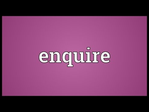 Enquire Meaning