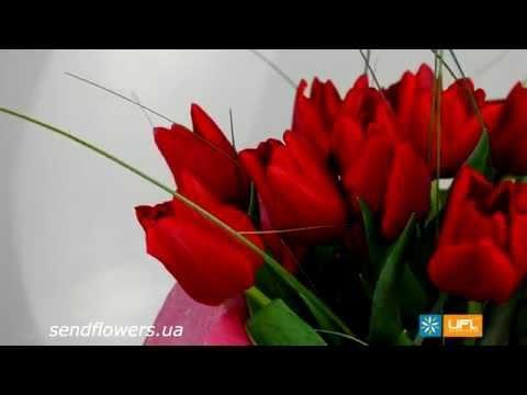 Букет Красные тюльпаны