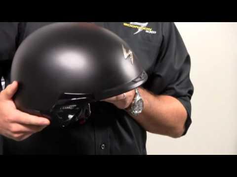 scorpion exo 100 half helmet youtube