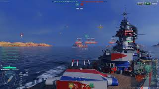 World of Warships NA - Richelieu amidst BBs
