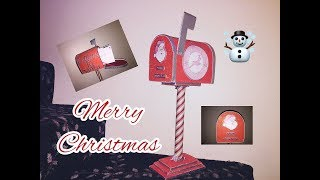 DIY: How to make  Santa's Mailbox using cardboard / Buzon de Santa
