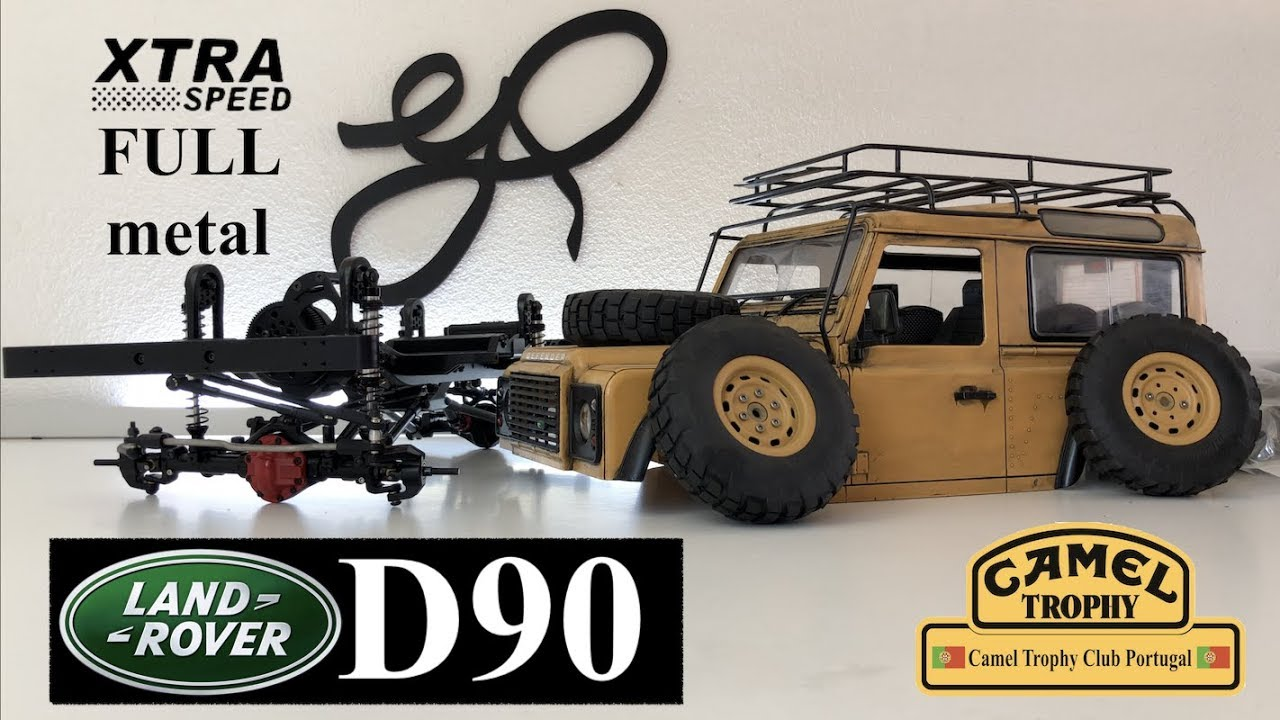 Download Xtra Speed D90 1/10 Scale Crawler 275mm... CAMEL TROPHY Scale Build