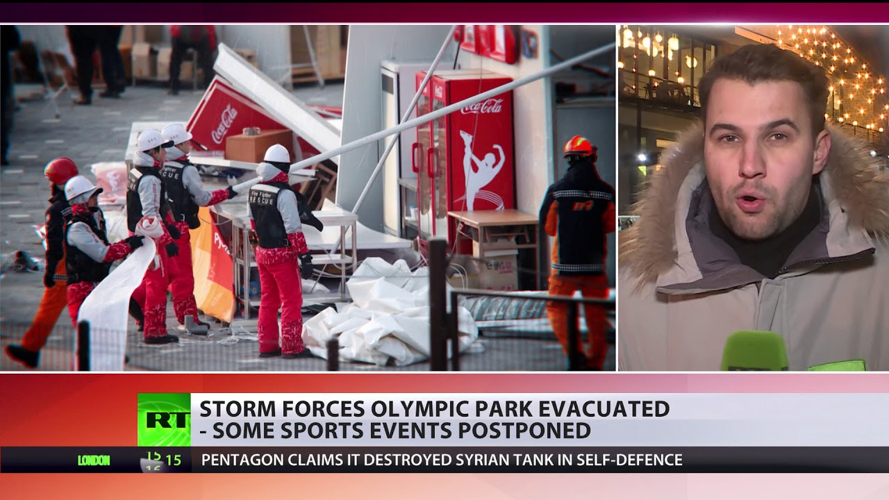 Olympic Park evacuated, events postponed as high winds wreak havoc in PyeongChang
