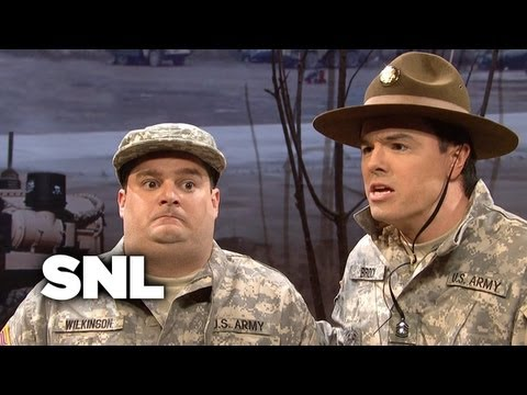 The Stuttering Drill Sergeant - SNL