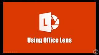 Using Office Lens Youtube