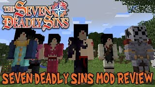 OUTFITS & POWERS OF THE SEVEN DEADLY SINS!    Minecraft Seven Deadly Sins Mod Review