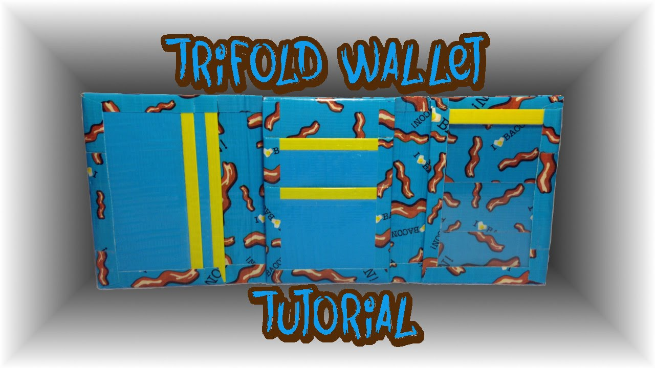 Tutorial Duct Tape Trifold Wallet Youtube