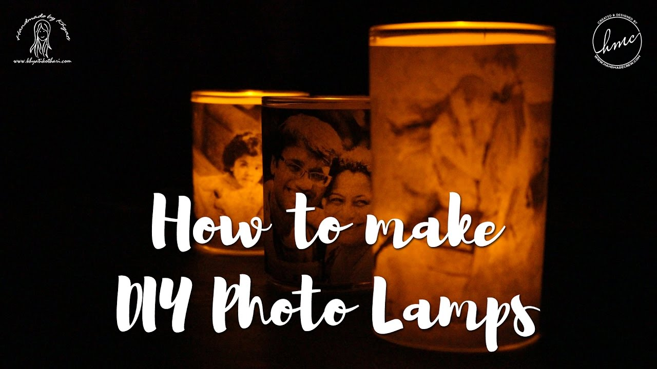 How to make Photo Lamps at home [DIY Photo Luminaries Tutorial ...