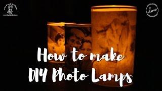 How to make Photo Lamps at home [DIY Photo Luminaries Tutorial]
