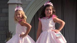 Sophia Grace and Rosie perform rap at Cinderella Castle in Walt Disney World