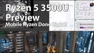"AMD Ryzen 5 3500U Preview ""Picasso"" - CPU-Z, GPGPU, Cinebench, PCMARK10, 3DMARK Test (RAW)"