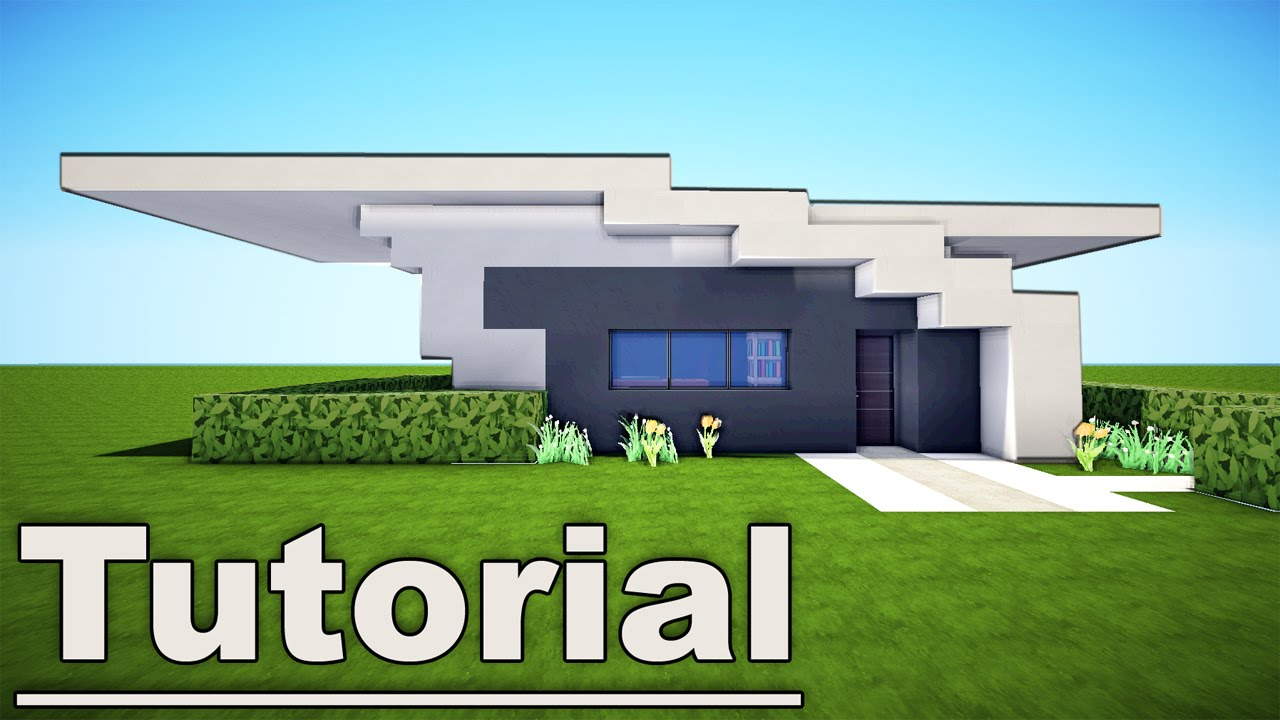 Minecraft small easy modern house tutorial 7 for pc xbox for Simple small modern house
