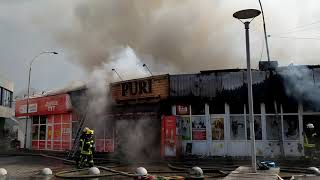 Пожар около метро Дарница