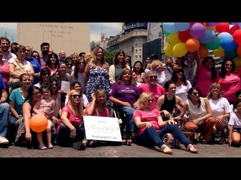 Visten al Obelisco con banderas de colores por el Día de las Personas con Discapacidad - 동영상